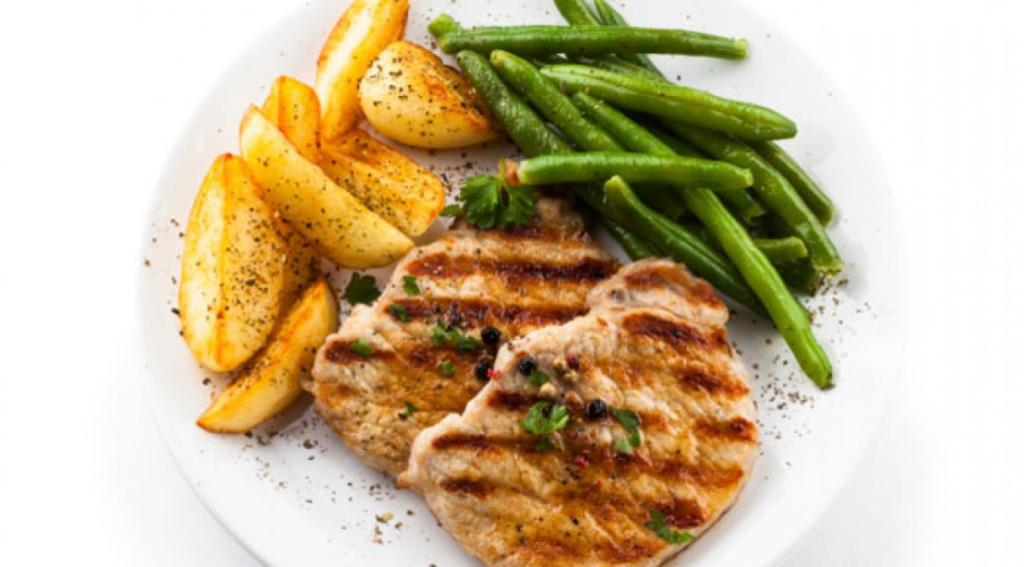 grilled-chicken-potatoes-green-beans